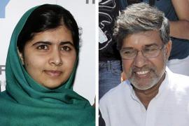 Malala Yousafzai y Kailash Satyarthi,  Nobel de la Paz 2014