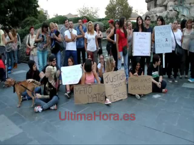Protesta en Palma por la ejecución del perro Excalibur