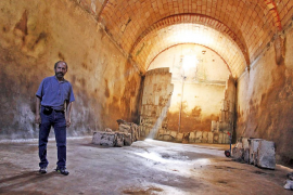 El aljibe municipal de Santanyí está siendo restaurado
