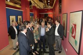 Exposición de Miró en la estación del Ferrocarril de Sóller en Palma