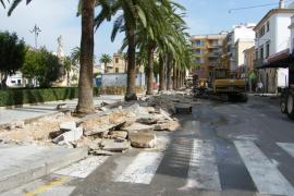 Empiezan las obras de la plaza de España de Felanitx