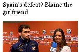 The Times culpa a Sara Carbonero de la derrota de España