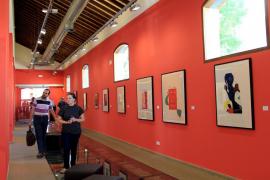 Gran acogida de Miró en la estación del Ferrocarril de Sóller