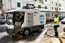 EMAYA prepara un plan de refuerzo para la limpieza del ensanche y extrarradio de Palma