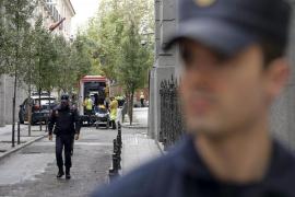 Tres heridos graves en un incendio en el Banco de España de Madrid