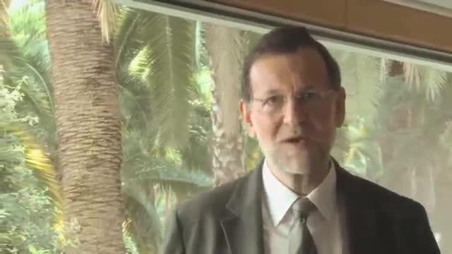 Un montaje muestra a Rajoy animando a los catalanes a votar el 9N