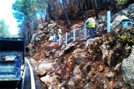 Inversión de 2,5 millones de euros para evitar desprendimientos en la carretera Andratx-Estellencs