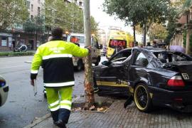 Un coche se empotra contra un árbol en las Avenidas