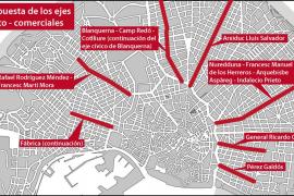 Palma prevé siete ejes cívicos-comerciales