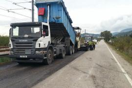 El Consell inicia la mejora del firme de la carretera  Inca-Lloseta