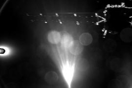 Imagen enviada por la sonda Philae