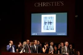 Andy Warhol domina la subasta multimillonaria de Christie's en Nueva York
