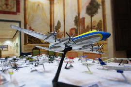 Exposición de maquetas de aviones y helicópteros de Juan Borel