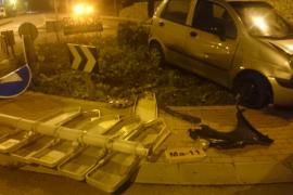 Aparatoso accidente de tráfico en Sóller