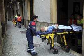 Hospitalizado un hombre que cayó de un segundo piso en Palma