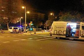 Un conductor arrolla a un repartidor de pizzas en Palma y se da a la fuga