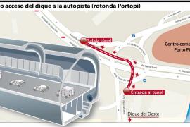 Un túnel unirá el Dique del Oeste con la autopista de Andratx