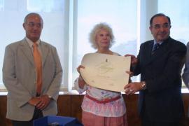 IBIZA - LA DUQUESA DE ALBA RECIBE EL PREMIO TANIT DE EIVISSA.