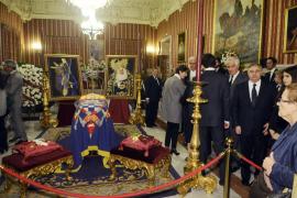 Capilla ardiente de la duquesa de Alba en Sevilla