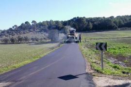 Cierran por obras dos vías de la carretera de Muro a Sineu