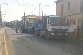 El Consell destina 30.000 euros a mejorar el asfalto de la travesía de s'Aranjassa