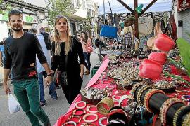 La oferta comercial sale a la calle durante la Fira de Santa Catalina de Bunyola