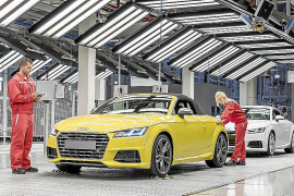 Audi Hungría ya produce el nuevo Audi TT Roadster