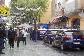Espectacular detención de un delincuente en la calle Oms