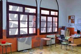 Una parte del techo cae en el CEIP La Soledat de Palma