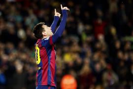El Barça golea con triplete de Messi y recupera el segundo lugar