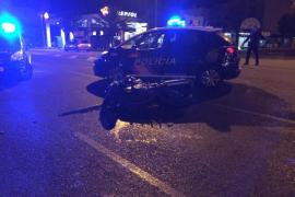 Detenido por atropellar a un motorista y darse a la fuga en Palma