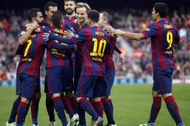 El Barcelona golea a ralentí