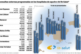 Más de 80.000 consultas suspendidas este año en Balears al no presentarse el paciente