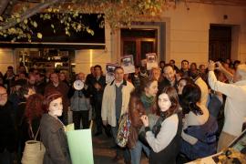 Protesta en Palma contra la Ley Mordaza