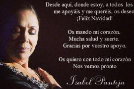 Isabel Pantoja felicita la Navidad desde la cárcel