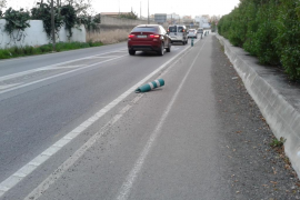 Camino de peatones peligroso