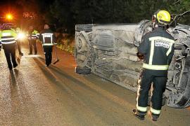 Un conductor ebrio y con el carnet retirado se accidenta en Llucmajor