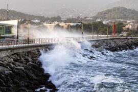 Balears, en alerta por vientos, mala mar y nieve