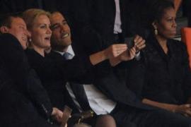 Selfie de Obama en el funeral de Nelson Mandela