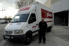 Un transportista inicia una persecución y logra capturar al ladrón de su camión