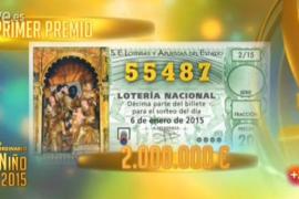 55.487, primer premio del Sorteo del Niño