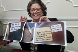 Rita Barberá recibe una bala en un sobre