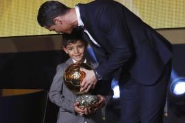 Cristiano Ronaldo Jr. y Cristiano Ronaldo