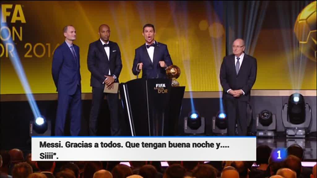 El grito de Ronaldo tras recibir su tercer Balón de Oro revoluciona las redes sociales