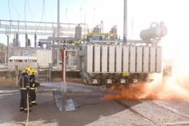 Endesa realiza un simulacro de emergencia en la subestación Arenal con la participación de Bombers de Palma