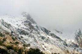 Cota de nieve en Balears por encima de los 800 metros