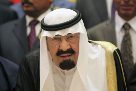 File photo of Saudi Arabia's King Abdullah bin Abdulaziz arriving at the the opening ceremony of the OIC summit in Mecca