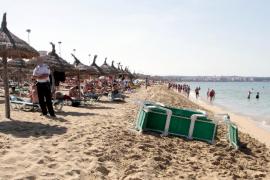 Mueren dos turistas de 60 y 65 años ahogados en la Platja de Palma en menos de una hora