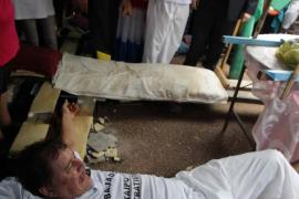 Los 'crucificados' de Asunción finalizan su protesta