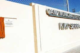 El Campo Municipal de Sant Jordi pasó a llamarse Campo Municipal de Fútbol Kiko Serra .
